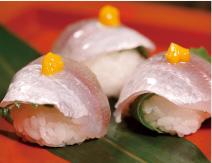 手まり寿司にして